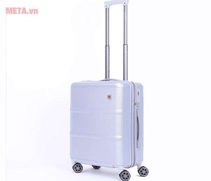 Vali kéo màu bạc