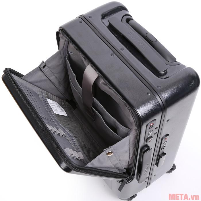 Ngăn đựng laptop của vali có khả năng chống sốc