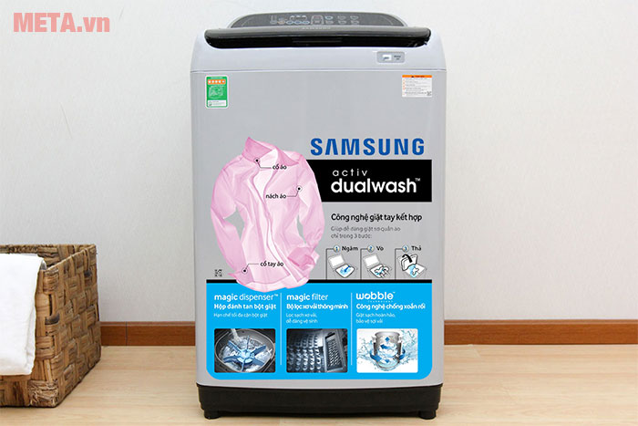 Máy giặt lồng đứng Samsung WA85J5712SG/SV