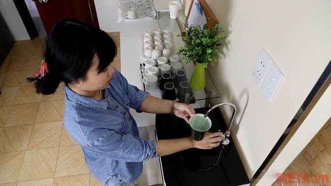 Vòi lấy nước với áp lực mạnh mẽ