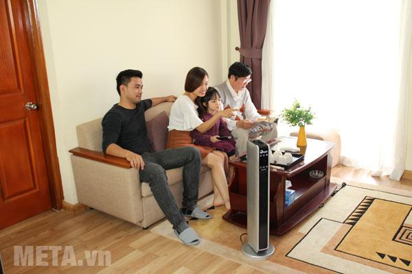 Quạt sưởi FujiE CH-2200 phù hợp sử dụng cho gia đình