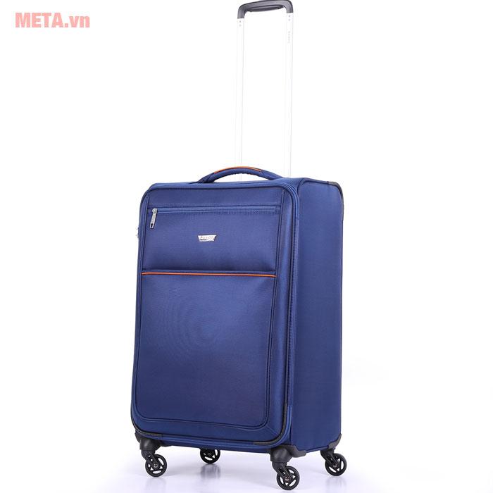 Vali kéo màu xanh