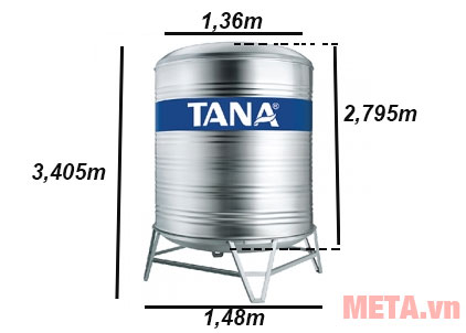 Kích thước của bồn nước