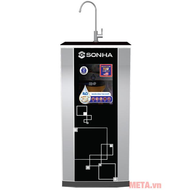 Hình ảnh máy lọc nước RO Sơn Hà màng lọc Dow 8 màu đen