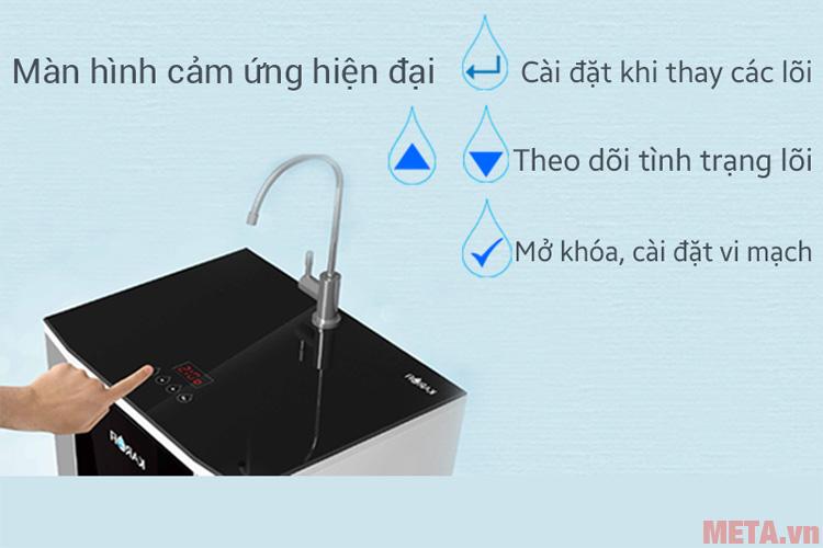 Màn hình cảm ứng về chất lượng nước