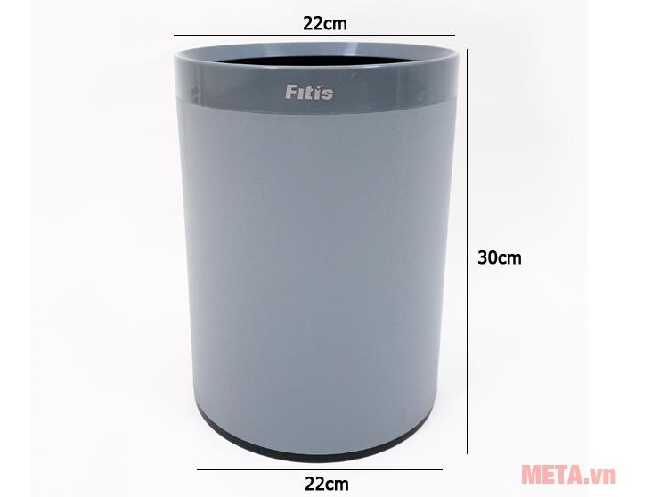 Kích thước thùng rác Fitis