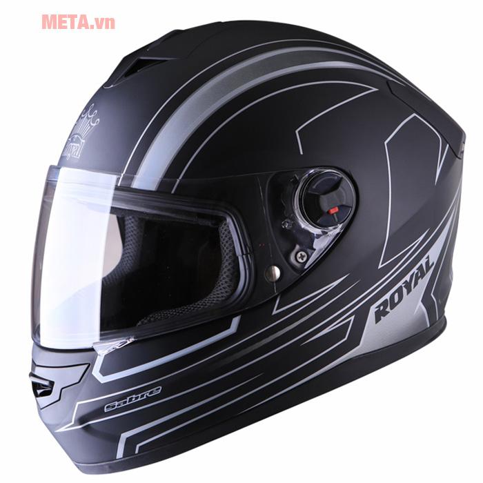 Mũ bảo hiểm Royal M07 Sabre màu đen