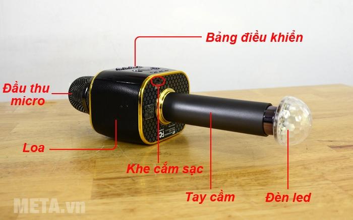 Cấu tạo micro Magic Sing MP-30