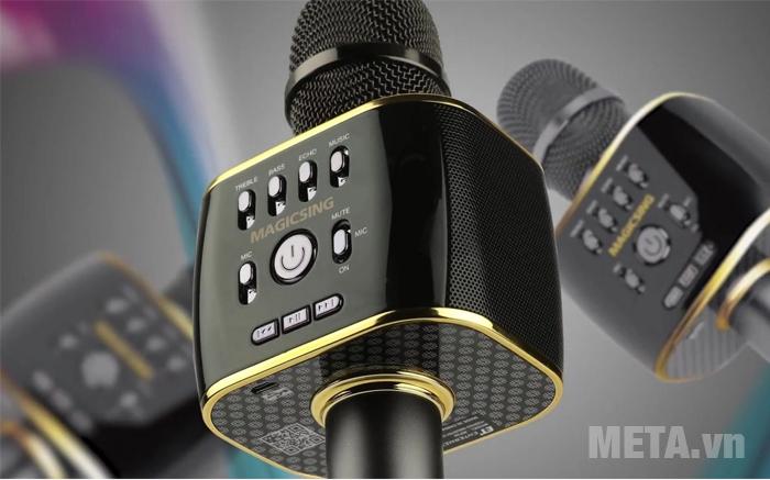 Micro karaoke Magic Sing MP-30 sử dụng chất liệu pin Li - ion với dung lượng pin 2.200 mAh