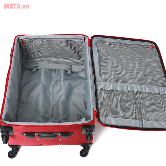 Vali có ngăn chứa rộng rãi