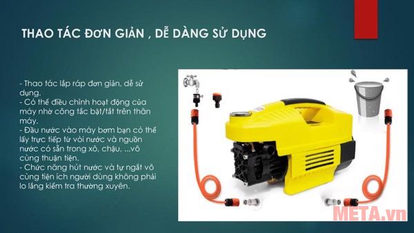 Máy được thiết kế đơn giản dễ dàng sử dụng