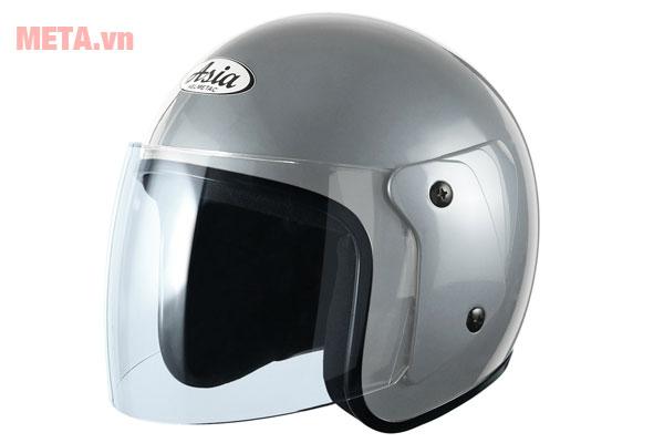 Mũ bảo hiểm màu bạc