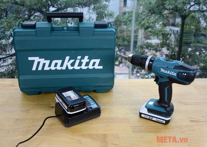 Bộ sản phẩm máy khoan pin Makita HP457DWE