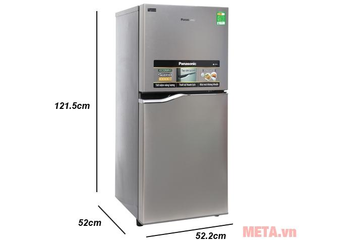 Kích thước tủ lạnh Panasonic NR-BA178PSV1