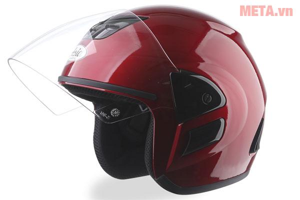 Mũ bảo hiểm MT-119 đỏ đô bóng