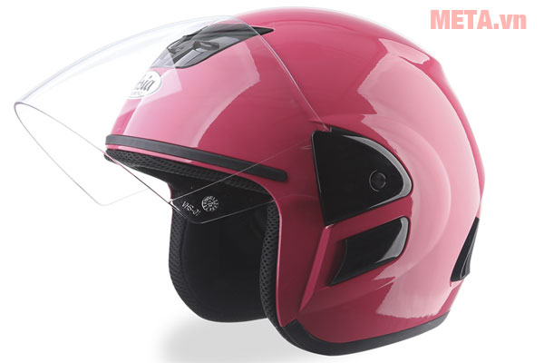 Mũ bảo hiểm hồng bóng