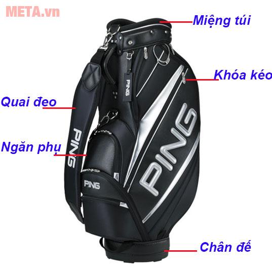 Cấu tạo túi đựng gậy golf