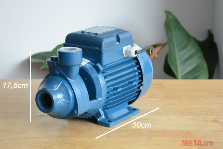 Kích thước sản phẩm máy bơm nước dân dụng Pentax PM 80 - 1HP