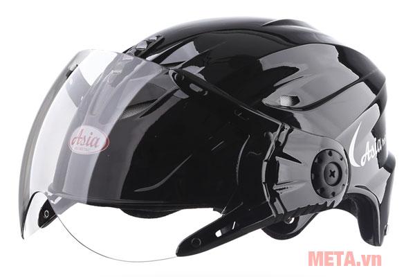 Mũ bảo hiểm màu đen bóng