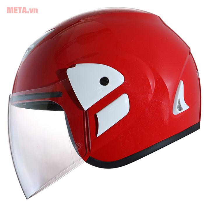 Mũ bảo hiểm đỏ tươi