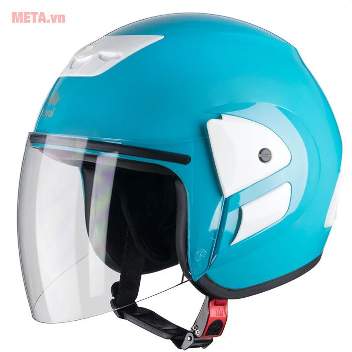 Mũ bảo hiểm màu xanh ngọc