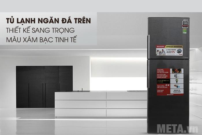 Thiết kế sang trọng của tủ lạnh Sharp Inverter SJ-X316E-DS