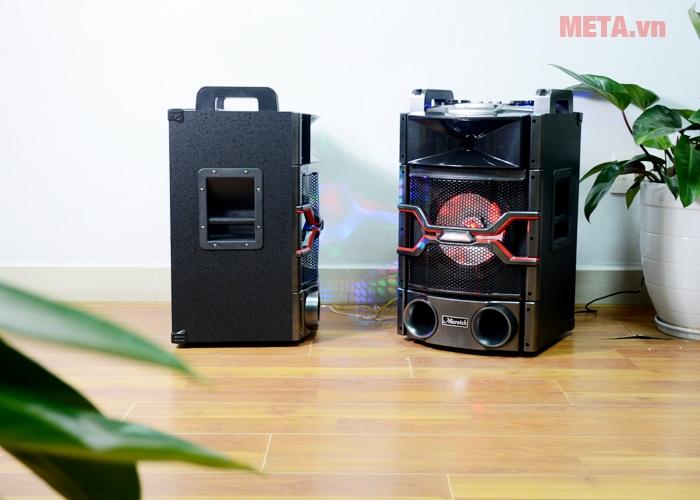 Loa Microtek MTK-04 có thiết kế hầm hố, ấn tượng