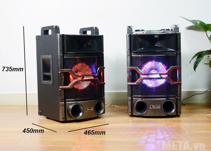 Kích thước loa Microtek MTK-04