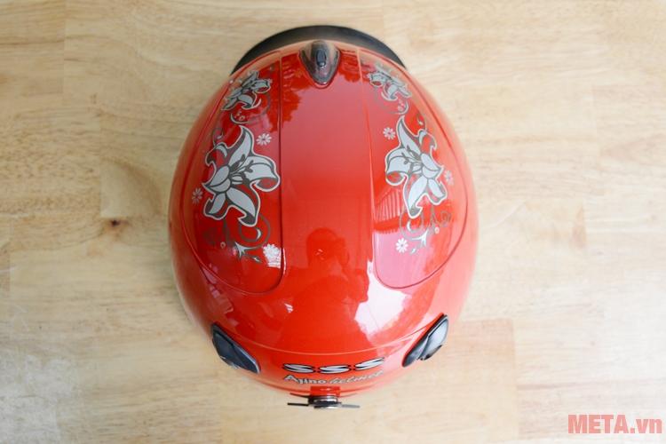 Mũ bảo hiểm Ajino màu đỏ