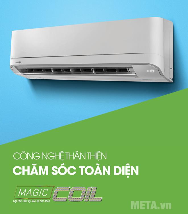 Máy lạnh Toshiba RAS-H24U2KSG-V (2.5HP) đem lại bầu không khí trong lành với công nghệ Magic Coil.