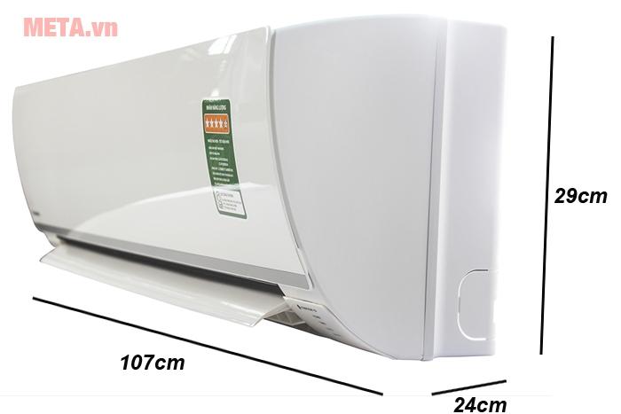 Kích thước điều hòa Panasonic Inverter 17600 BTU CU/CS-PU18TKH-8