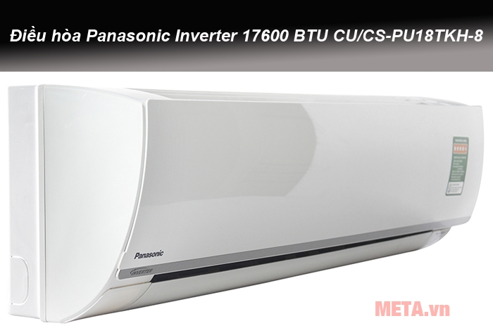 Điều hòa Panasonic Inverter 17600 BTU CU/CS-PU18TKH-8 có màu trắng sang trọng