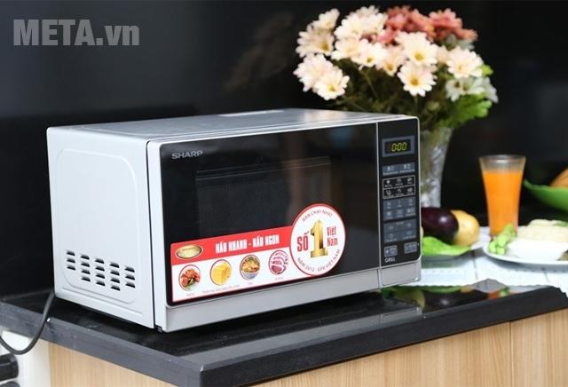 Lò vi sóng Sharp R-G572VN-S phù hợp với không gian bếp