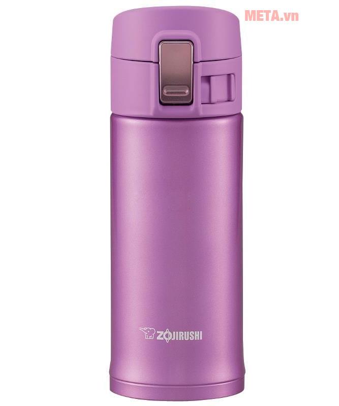 Bình giữ nhiệt nóng lạnh Zojirushi SM-KB36 mở nắp dễ dàng vớI 1 nút nhấn, có khóa an toàn