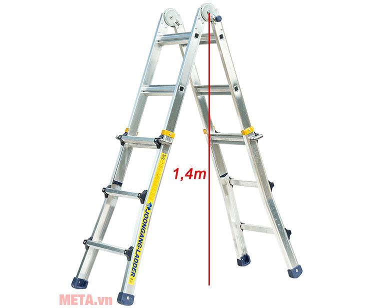 Chiều cao thang A1 1,4m