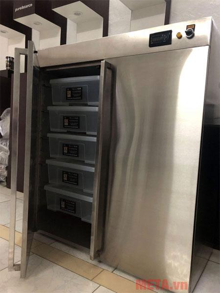 Máy cho ra lượng tỏi thành phẩm từ 25 - 30kg một mẻ
