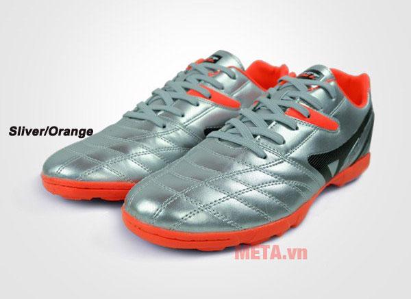 Giày đá bóng EBET 16910 màu sliver/orange