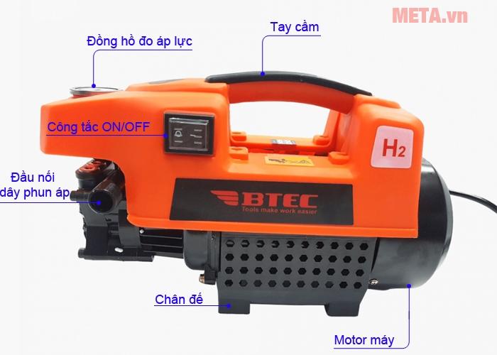 Cấu tạo máy xịt rửa BTEC BT1401