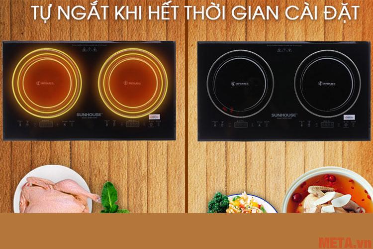 Bếp sẽ tự ngắt khi hết thời gian cài đặt