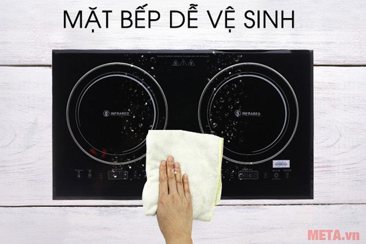Mặt bếp dễ dàng vệ sinh sau khi sử dụng