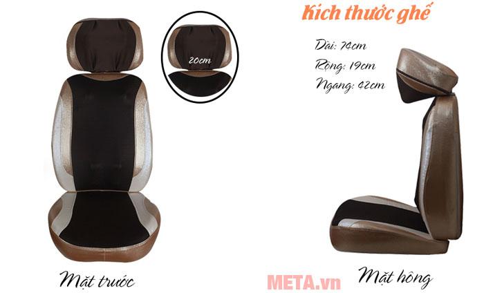 Nệm ghế massage có thiết kế nhỏ gọn