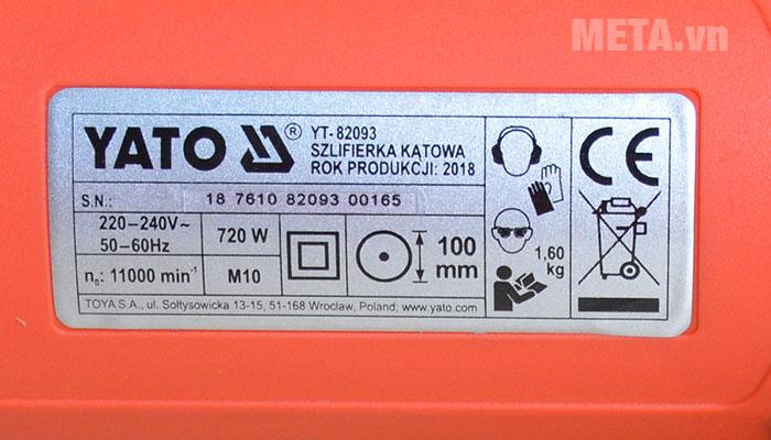 Thông số kĩ thuật của máy
