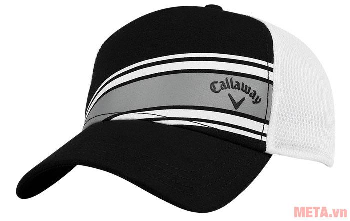 Mũ golf Callaway Stripe Mesh ADJ màu đen