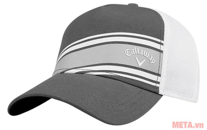Mũ golf Callaway Stripe Mesh ADJ màu xám