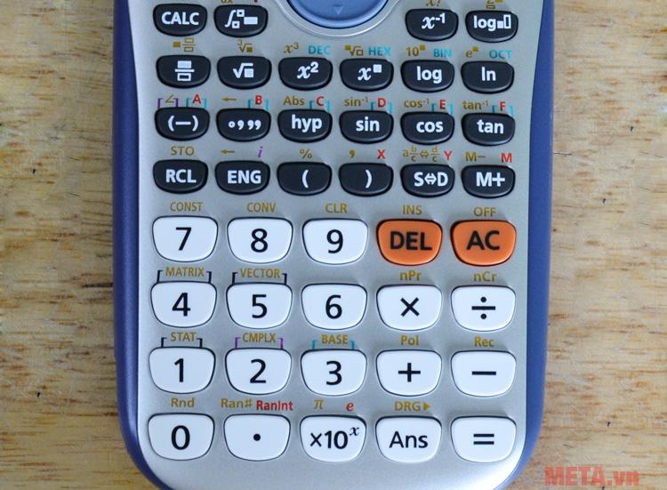 Phím số của máy tính bỏ túi
