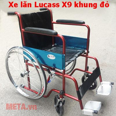 Xe lăn X9 màu đỏ