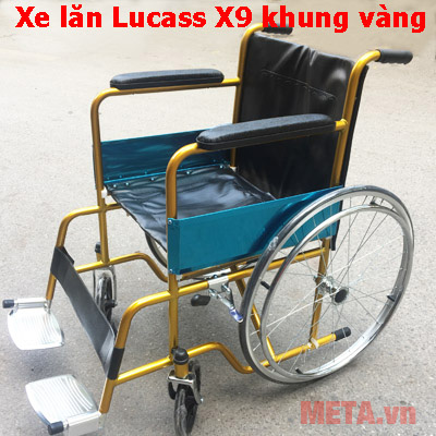 Xe lăn X9 màu vàng