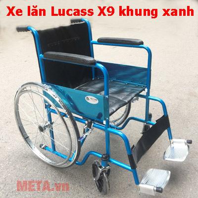 Xe lăn X9 màu xanh