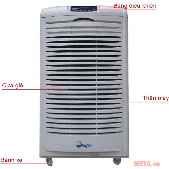 Cấu tạo máy hút ẩm công nghiệp Fujie HM-6105EB