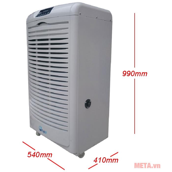 Kích thước máy hút ẩm công nghiệp Fujie HM-6105EB